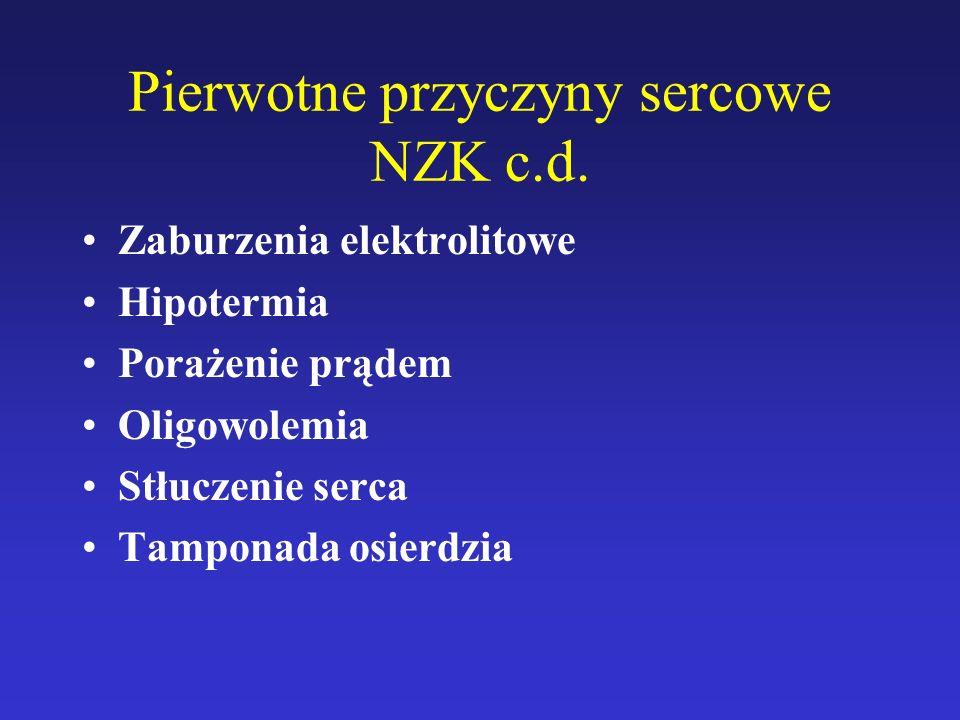 Pierwotne przyczyny sercowe NZK c.d.
