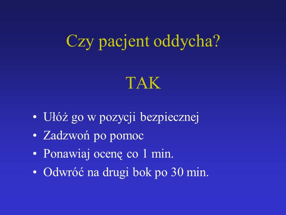 Czy pacjent oddycha TAK