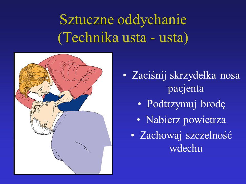 Sztuczne oddychanie (Technika usta - usta)