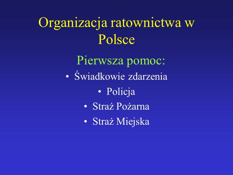 Organizacja ratownictwa w Polsce
