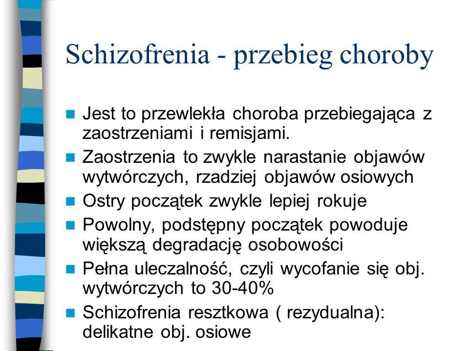 Schizofrenia - przebieg choroby