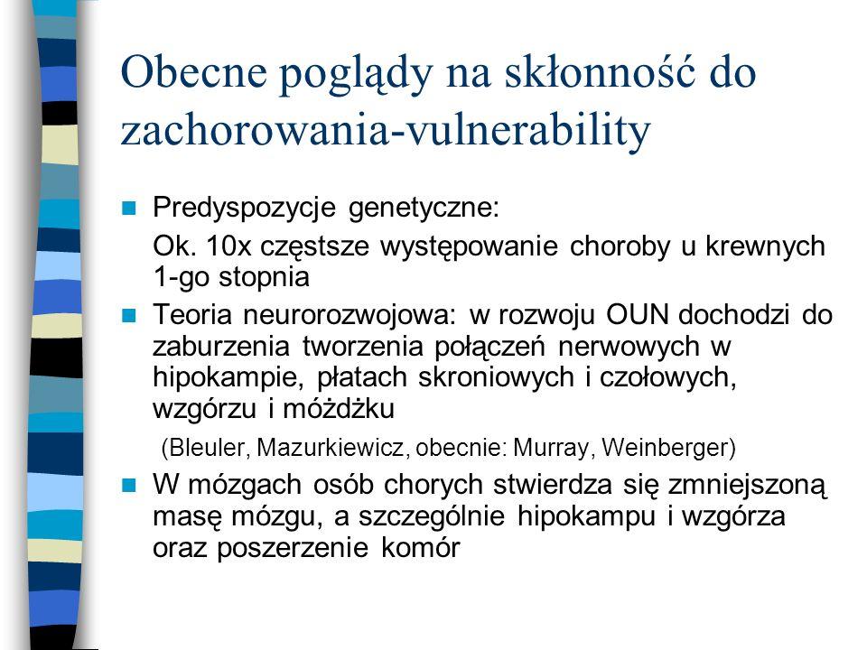 Obecne poglądy na skłonność do zachorowania-vulnerability