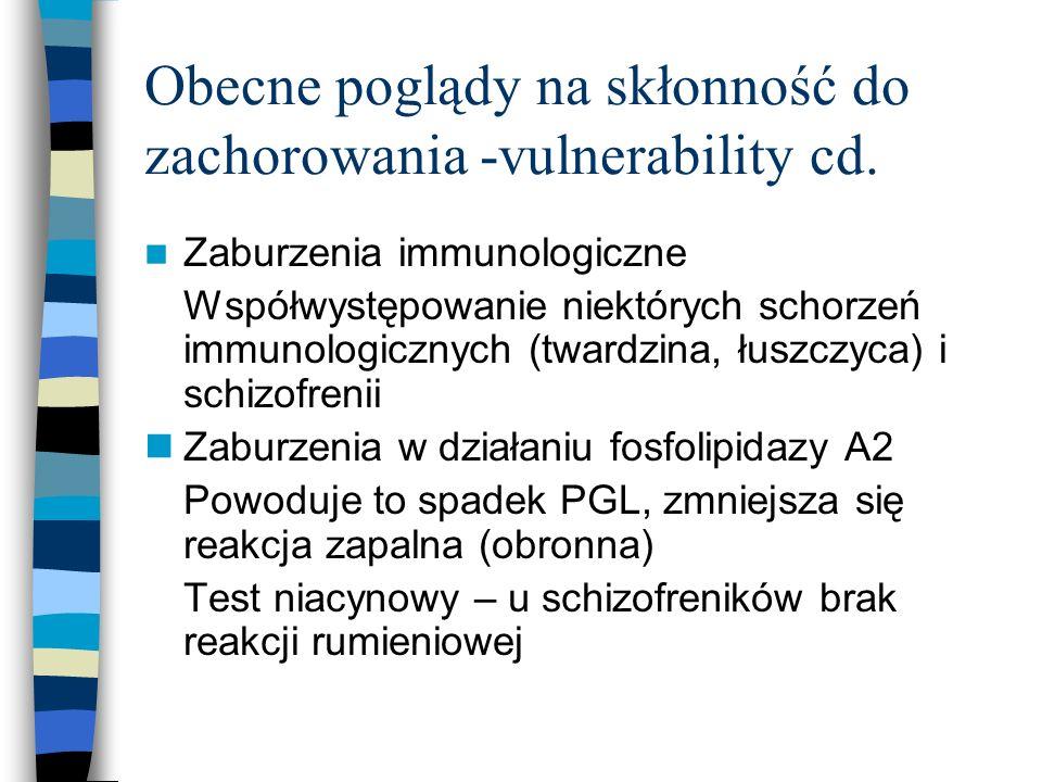 Obecne poglądy na skłonność do zachorowania -vulnerability cd.