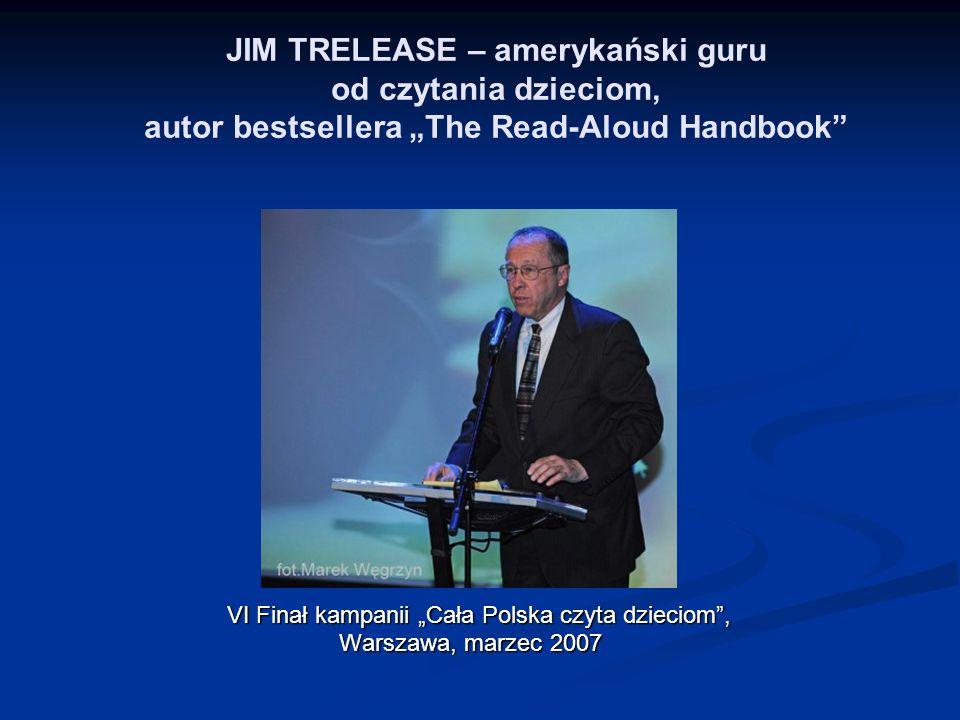 """JIM TRELEASE – amerykański guru od czytania dzieciom, autor bestsellera """"The Read-Aloud Handbook"""