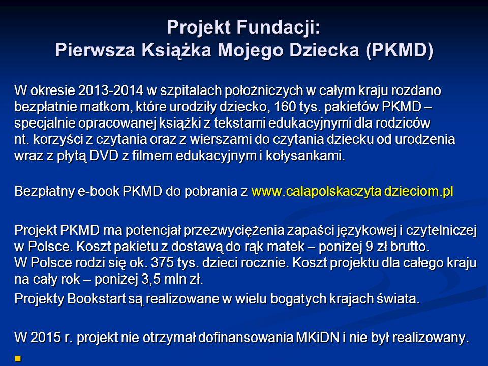 Projekt Fundacji: Pierwsza Książka Mojego Dziecka (PKMD)