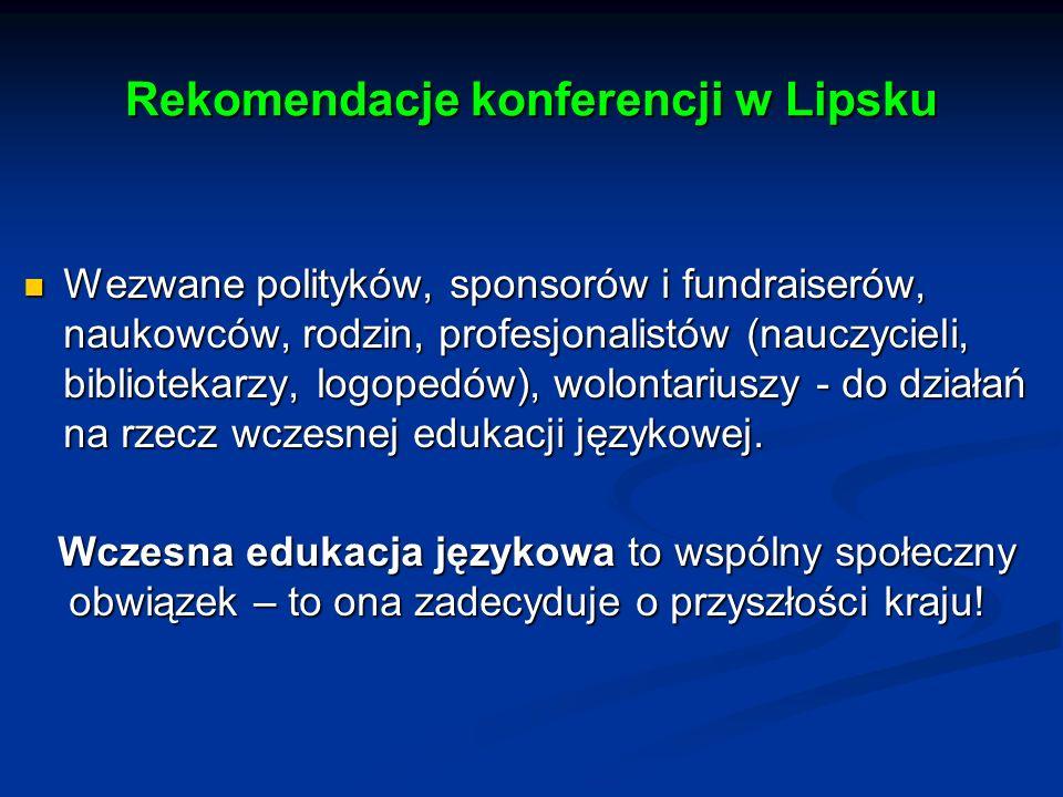 Rekomendacje konferencji w Lipsku