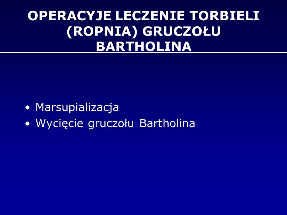 OPERACYJE LECZENIE TORBIELI (ROPNIA) GRUCZOŁU BARTHOLINA