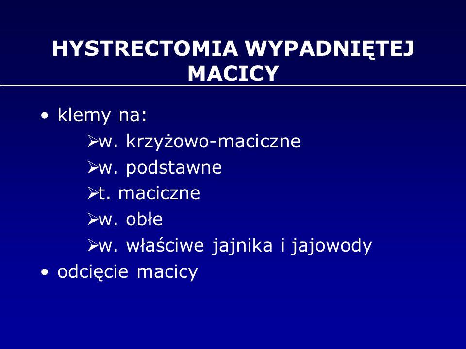 HYSTRECTOMIA WYPADNIĘTEJ MACICY