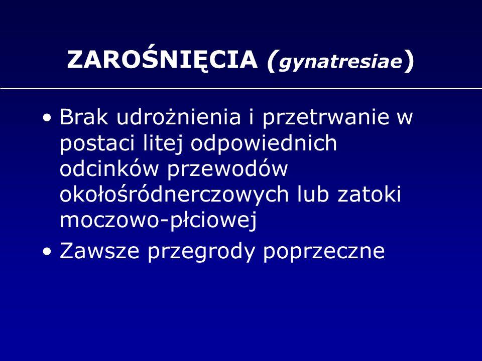 ZAROŚNIĘCIA (gynatresiae)