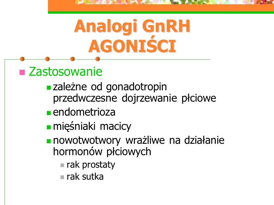 Analogi GnRH AGONIŚCI Zastosowanie