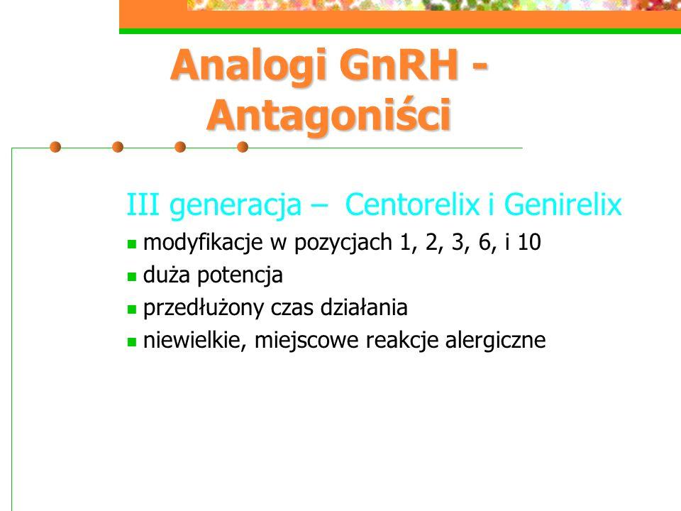 Analogi GnRH - Antagoniści
