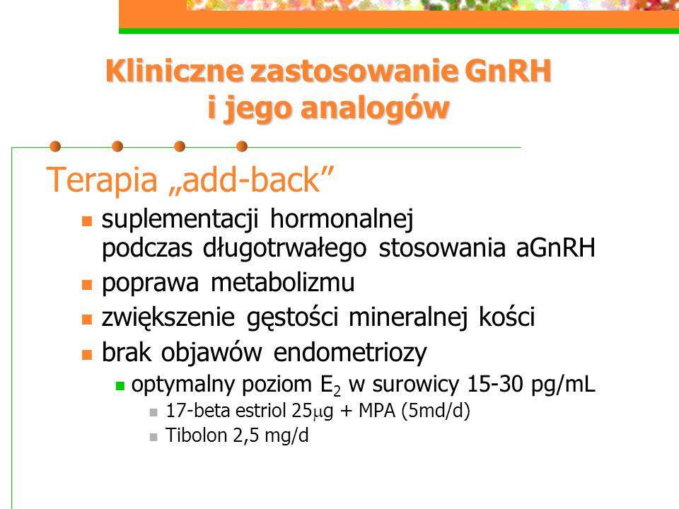 Kliniczne zastosowanie GnRH i jego analogów