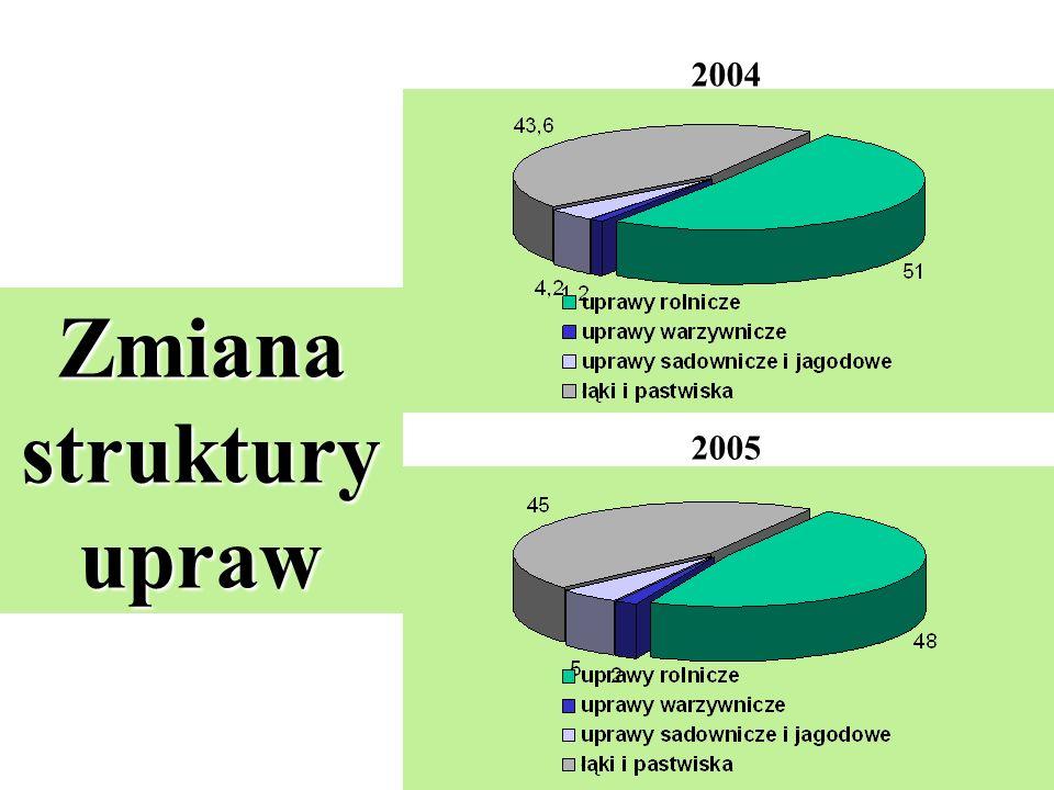 Zmiana struktury upraw