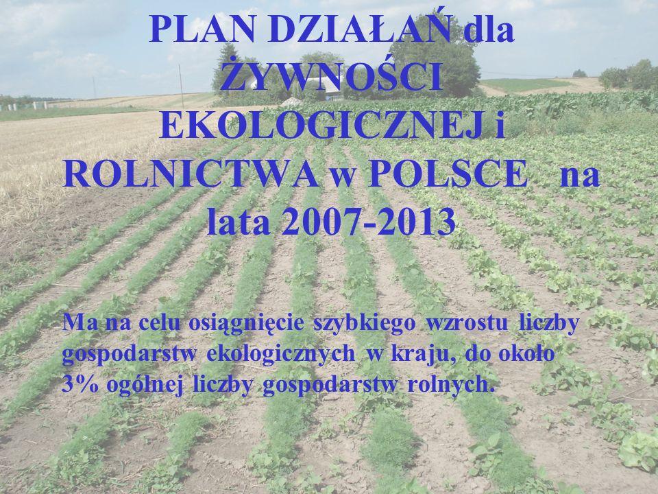 PLAN DZIAŁAŃ dla ŻYWNOŚCI EKOLOGICZNEJ i ROLNICTWA w POLSCE na lata 2007-2013