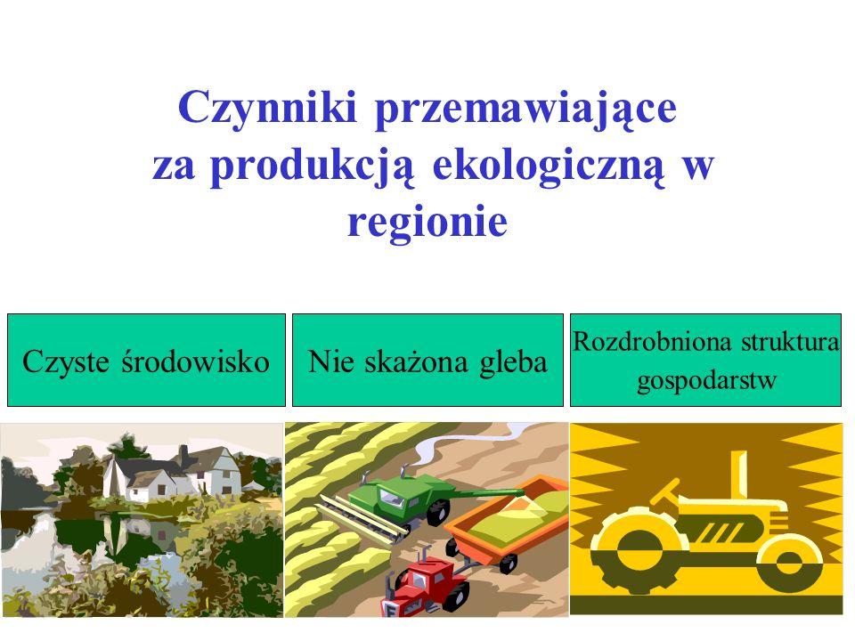 Czynniki przemawiające za produkcją ekologiczną w regionie