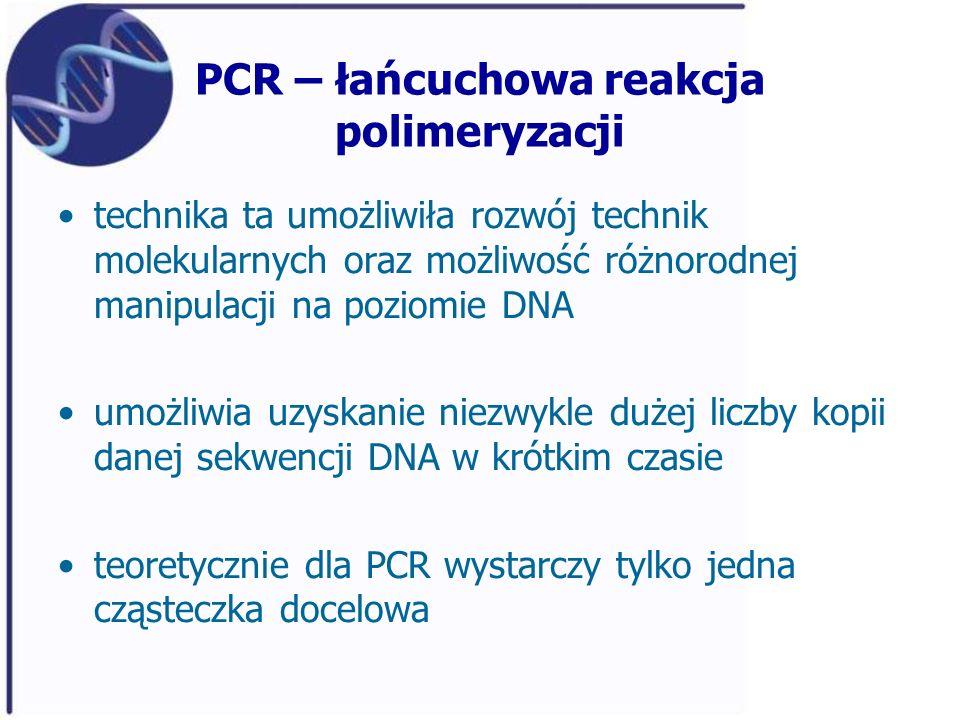 PCR – łańcuchowa reakcja polimeryzacji
