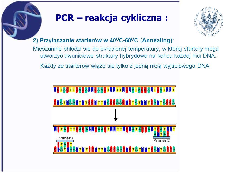PCR – reakcja cykliczna :