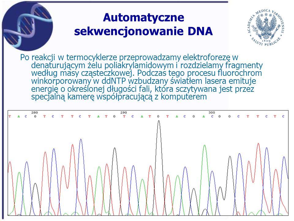 Automatyczne sekwencjonowanie DNA