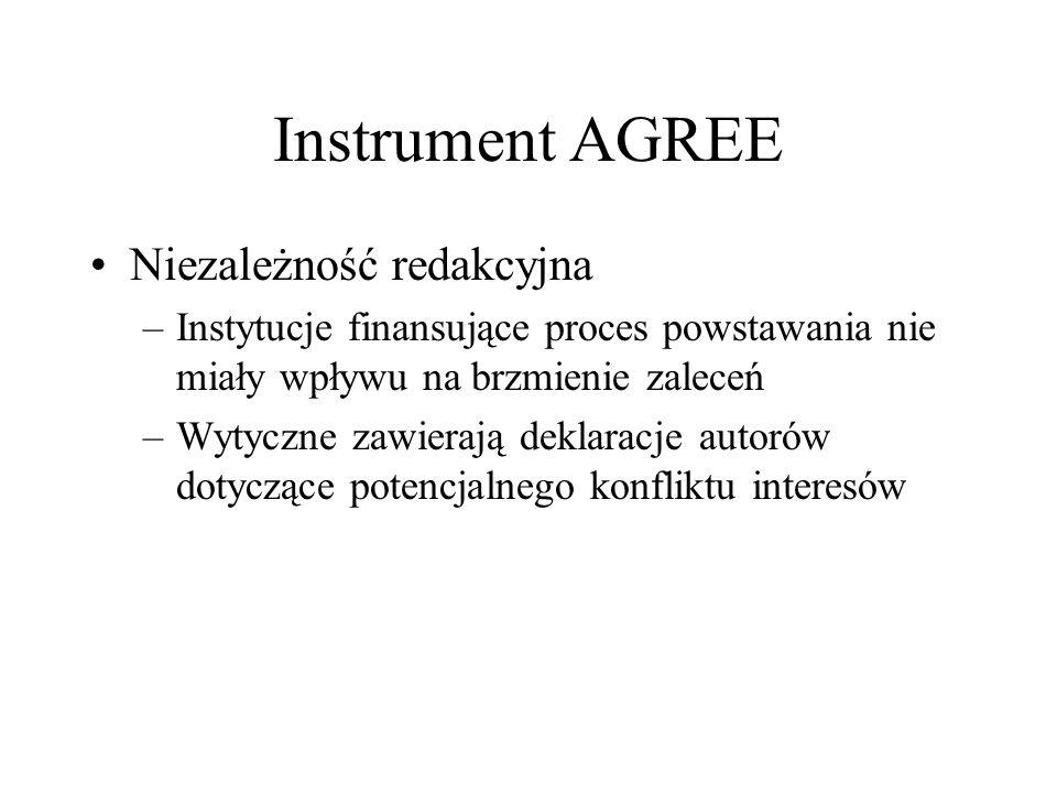 Instrument AGREE Niezależność redakcyjna