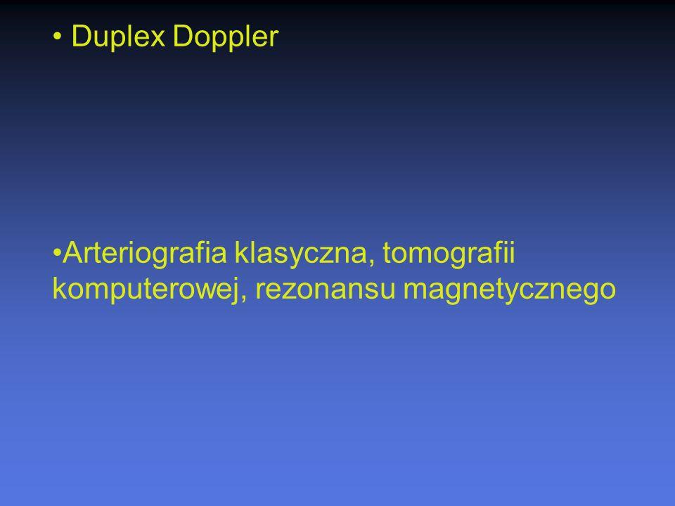 Duplex Doppler Arteriografia klasyczna, tomografii komputerowej, rezonansu magnetycznego