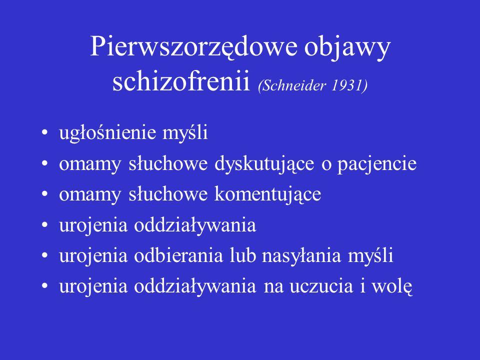 Pierwszorzędowe objawy schizofrenii (Schneider 1931)