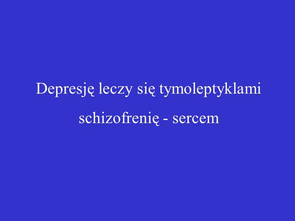 Depresję leczy się tymoleptyklami