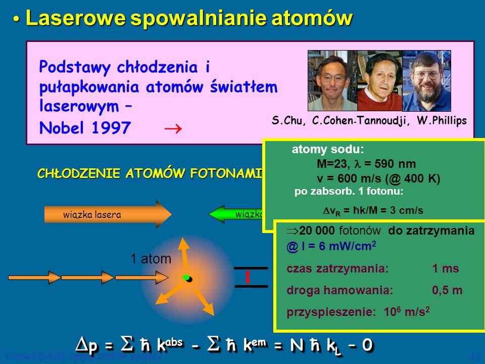 Laserowe spowalnianie atomów
