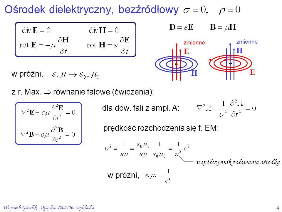 Ośrodek dielektryczny, bezźródłowy