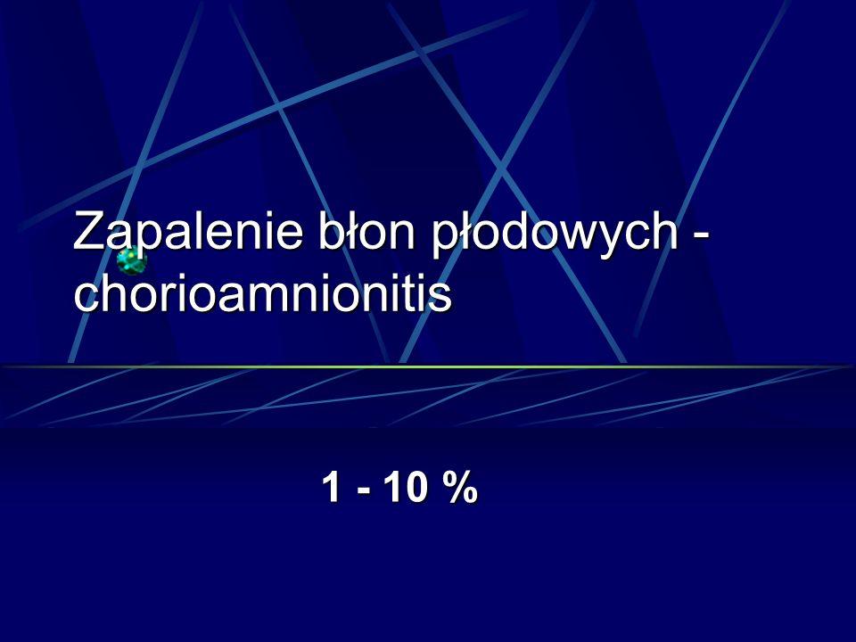 Zapalenie błon płodowych - chorioamnionitis