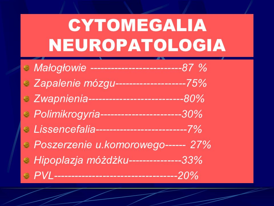 CYTOMEGALIA NEUROPATOLOGIA