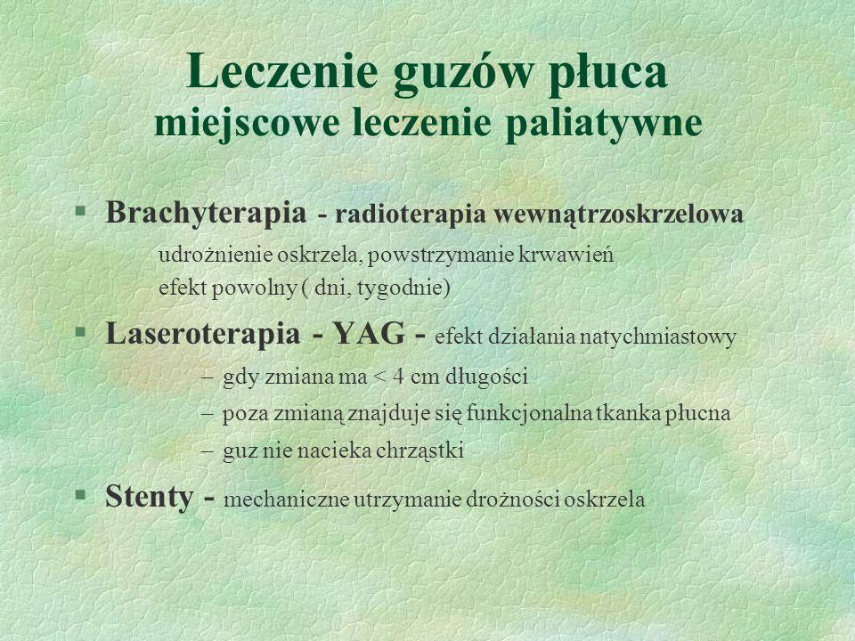 Leczenie guzów płuca miejscowe leczenie paliatywne