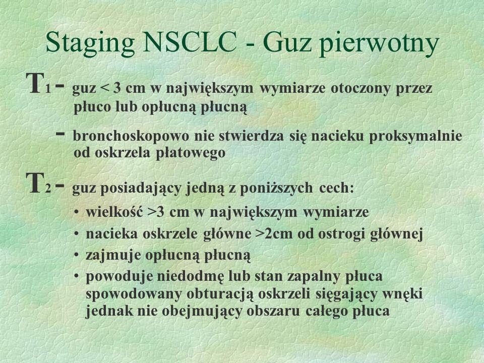 Staging NSCLC - Guz pierwotny