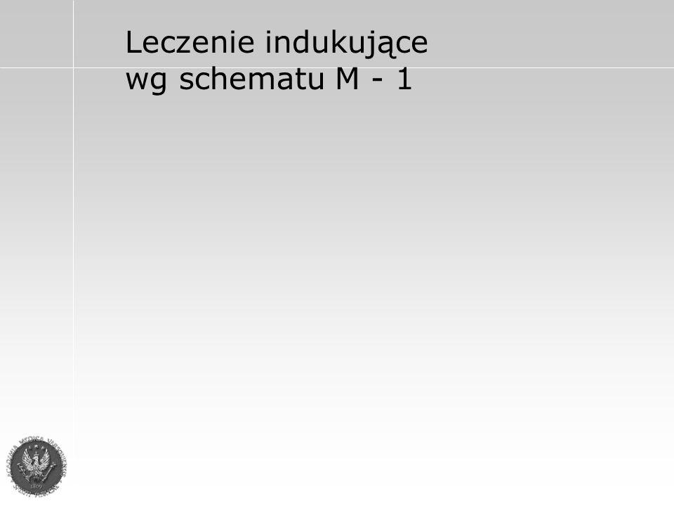 Leczenie indukujące wg schematu M - 1