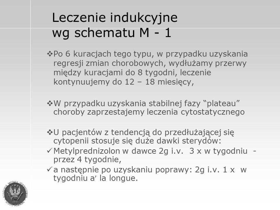 Leczenie indukcyjne wg schematu M - 1