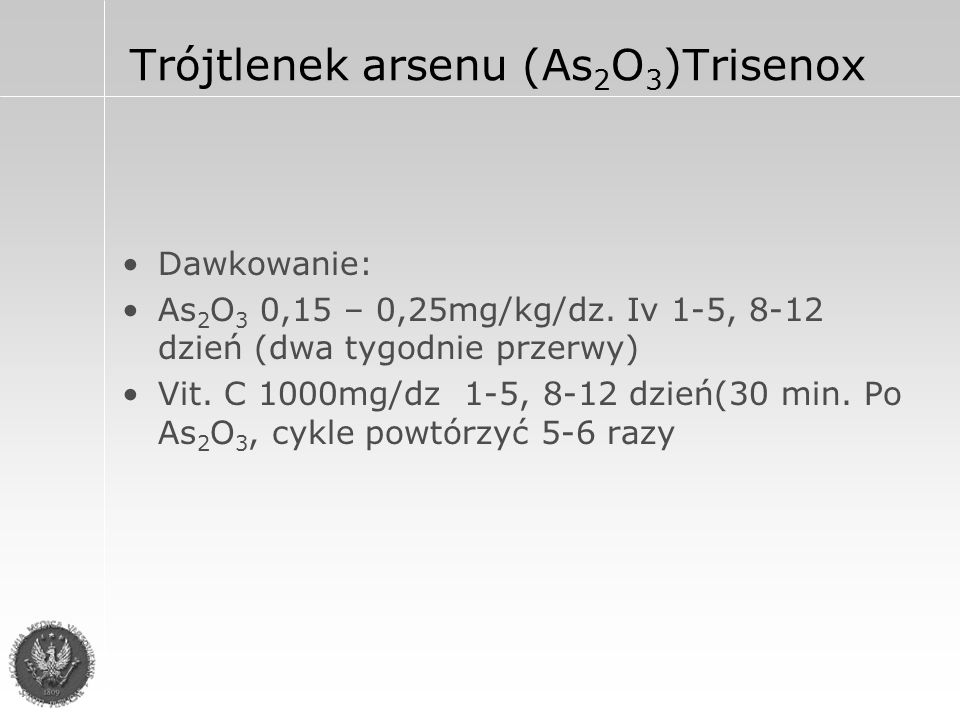 Trójtlenek arsenu (As2O3)Trisenox