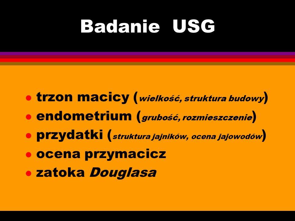 Badanie USG trzon macicy (wielkość, struktura budowy)