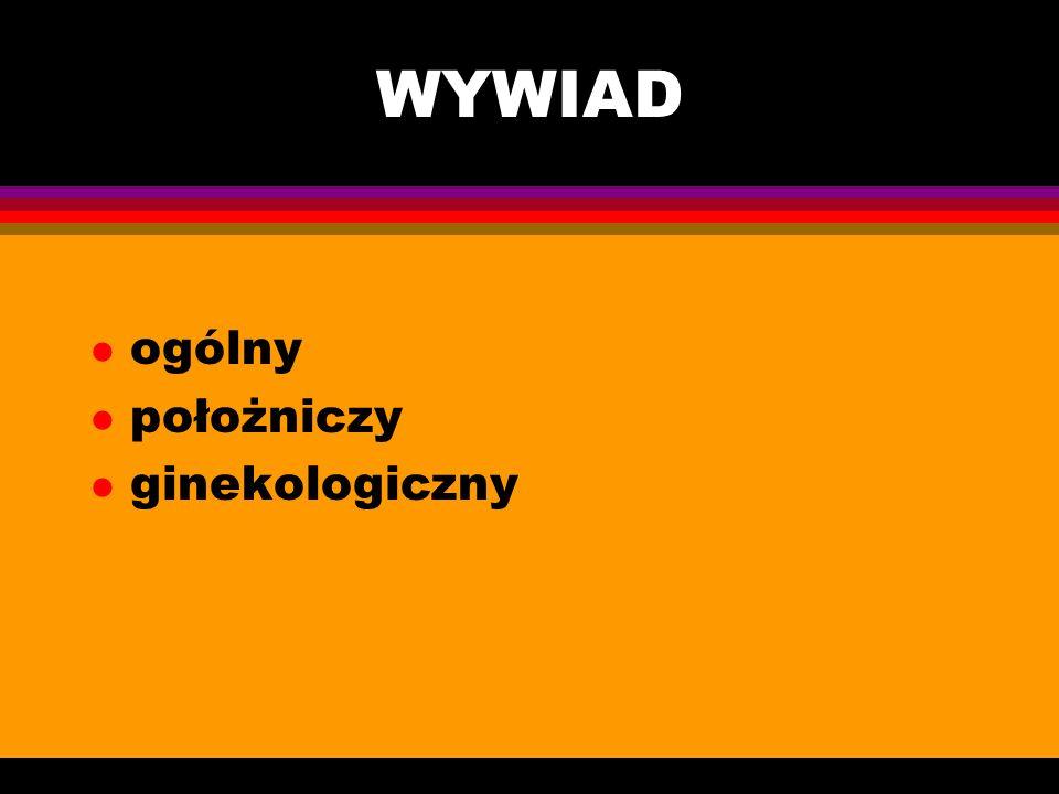 WYWIAD ogólny położniczy ginekologiczny