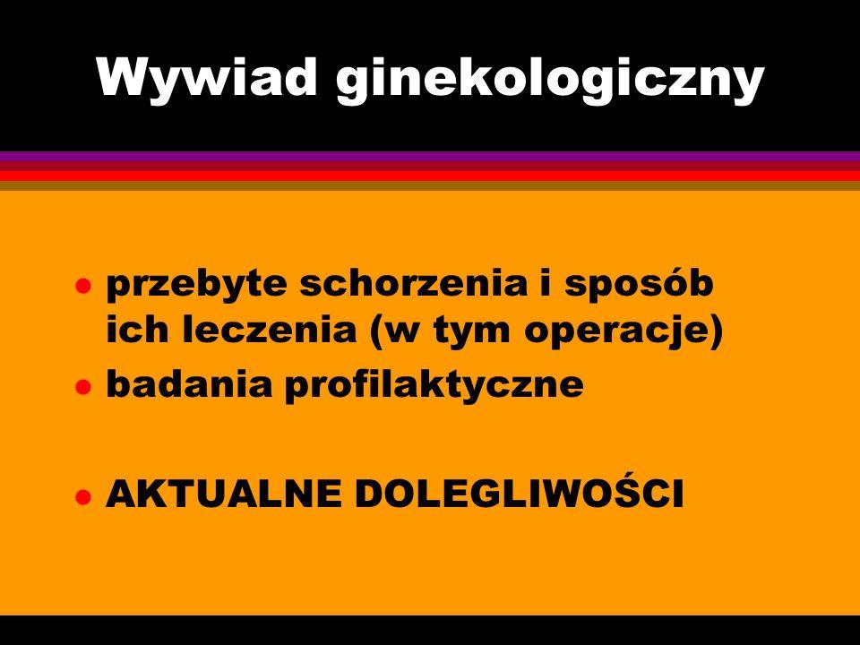 Wywiad ginekologiczny