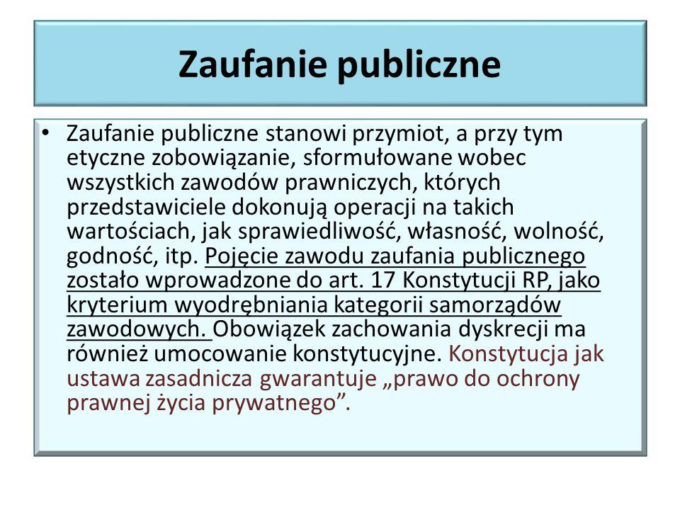 Zaufanie publiczne