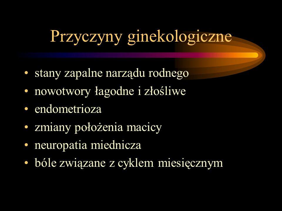 Przyczyny ginekologiczne