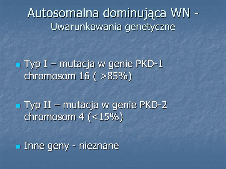 Autosomalna dominująca WN - Uwarunkowania genetyczne