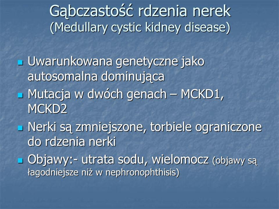 Gąbczastość rdzenia nerek (Medullary cystic kidney disease)