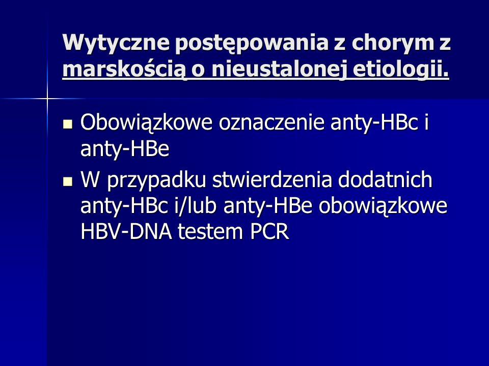 Wytyczne postępowania z chorym z marskością o nieustalonej etiologii.