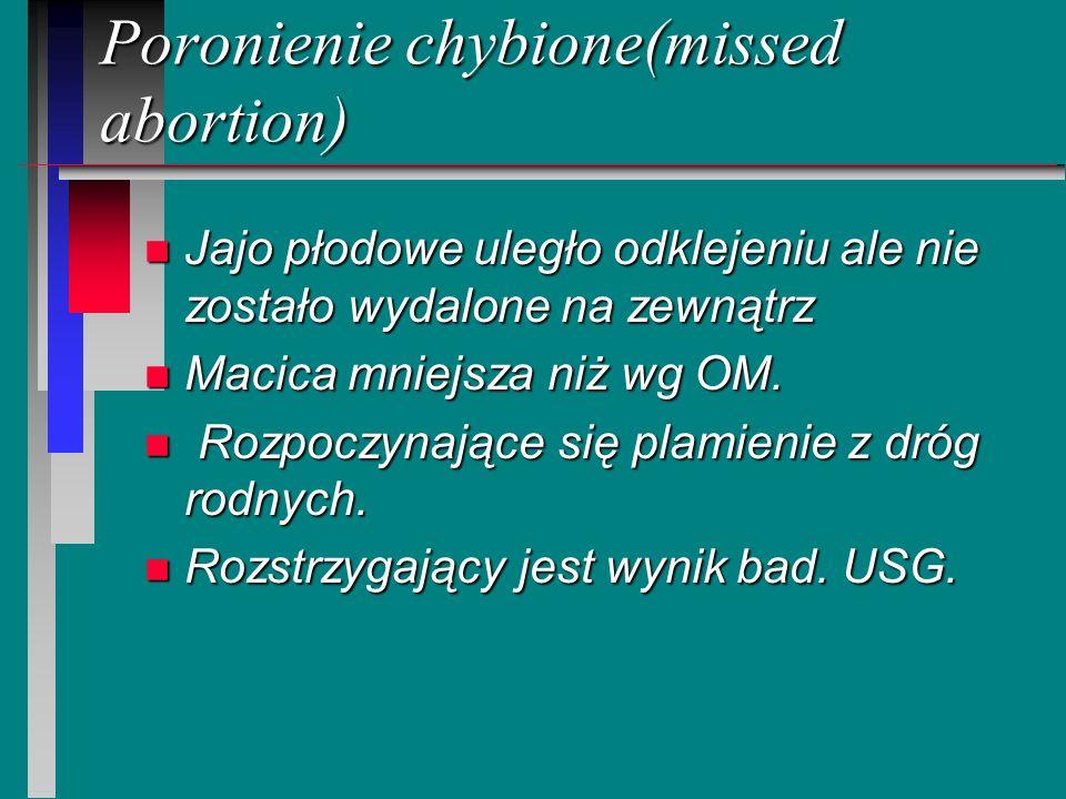 Poronienie chybione(missed abortion)