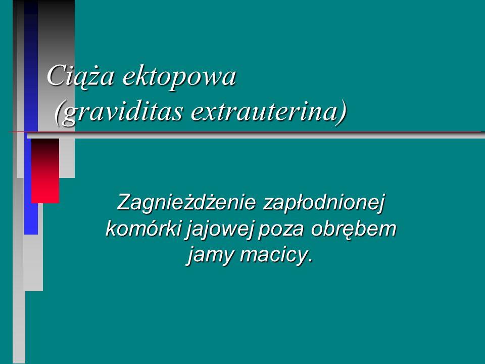 Ciąża ektopowa (graviditas extrauterina)