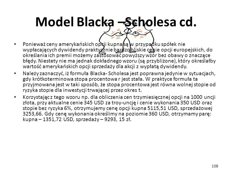 Model Blacka –Scholesa cd.