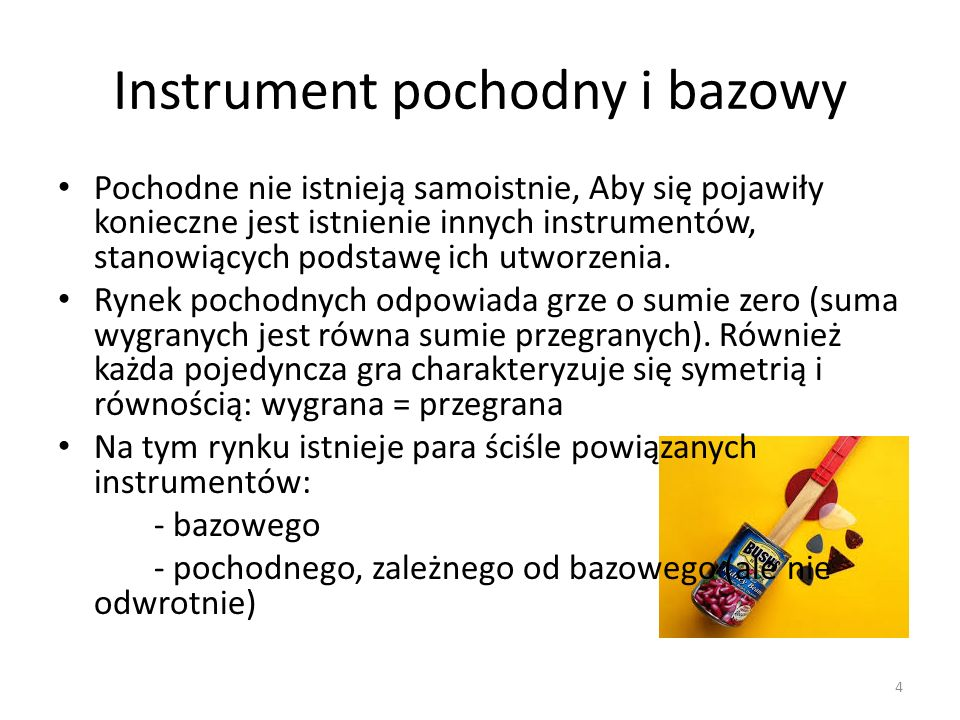 Instrument pochodny i bazowy