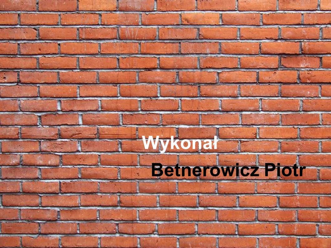 Wykonał Betnerowicz Piotr