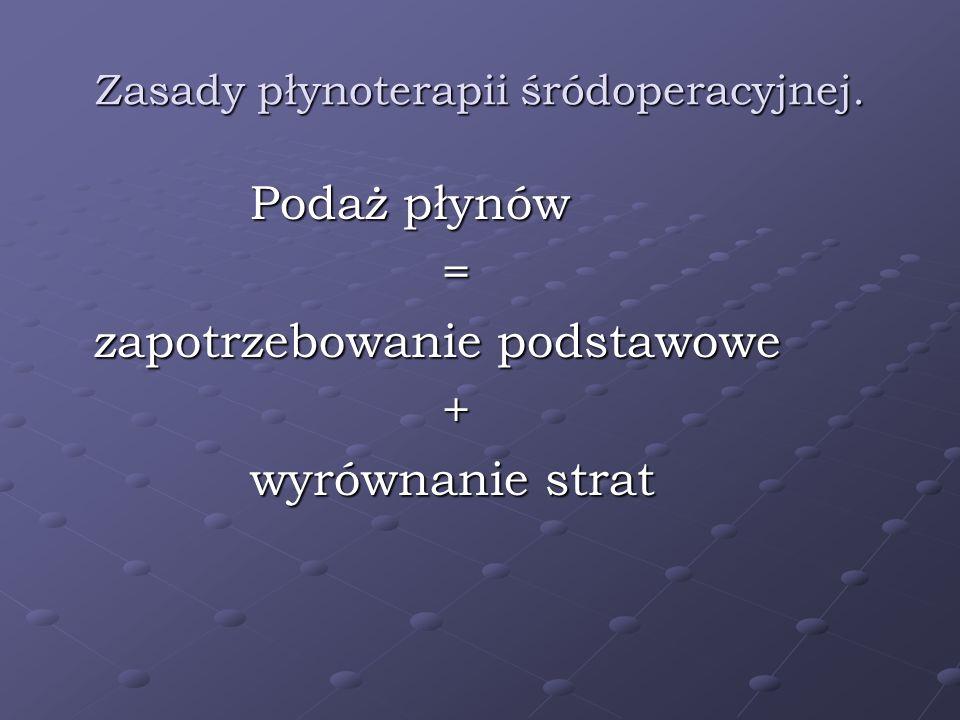 Zasady płynoterapii śródoperacyjnej.