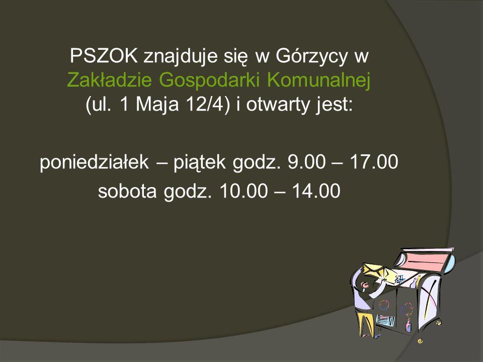 PSZOK znajduje się w Górzycy w Zakładzie Gospodarki Komunalnej (ul